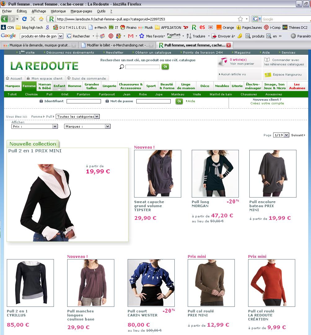 La masse fait vendre e - Liste des magasin la redoute ...